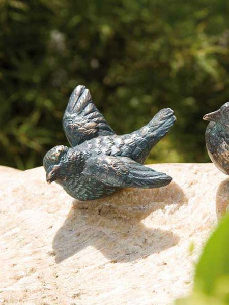 Bronzevogel mit geöffneten Flügeln von Rottenecker Ambiente