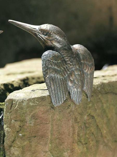 Eisvogel Bronze mit Flügel offen