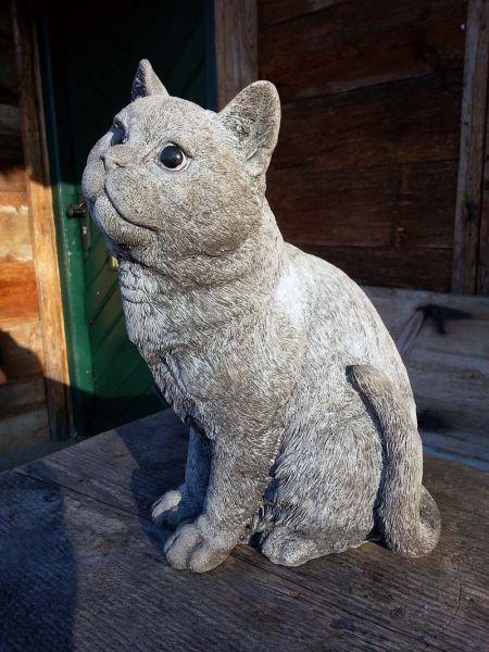 Katze Mauzi - frostfeste Katzenfigur