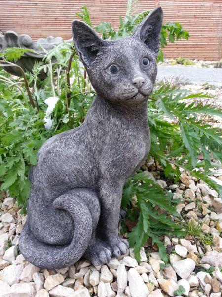 Kater Katze aus Steinguss