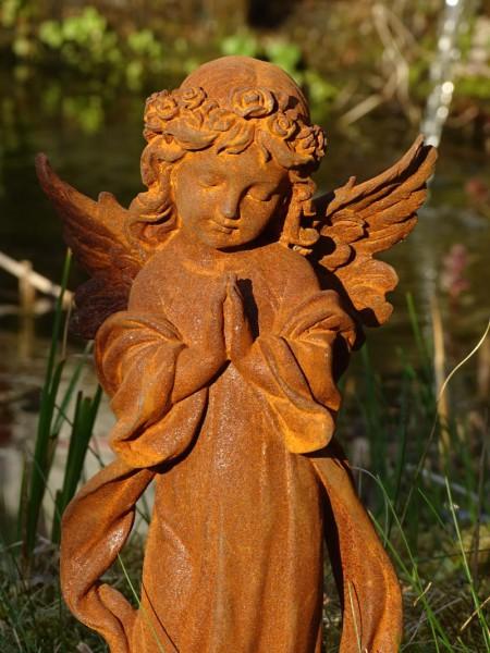 Gusseisenfigur Engel betend