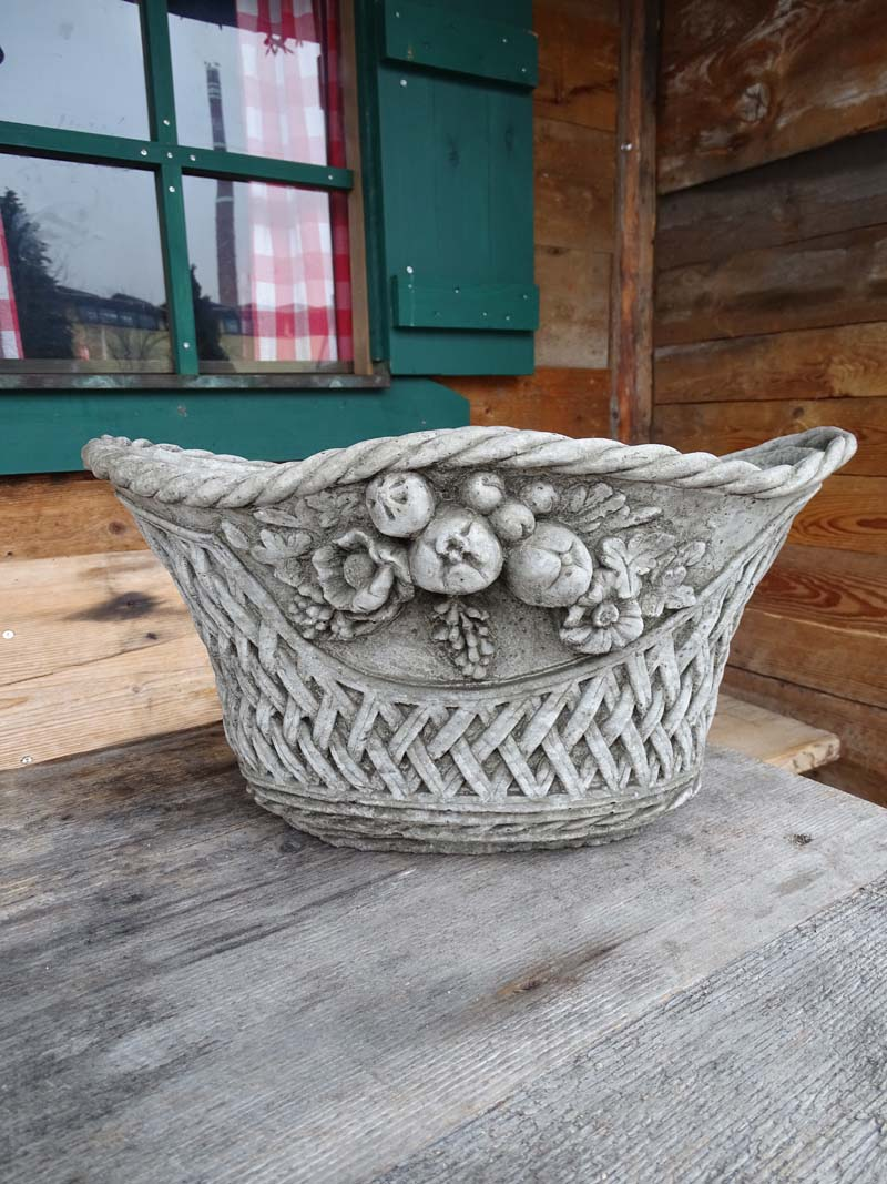 Pflanzschale bertopf vase cornwall planter aus for Gartenfiguren aus steinguss