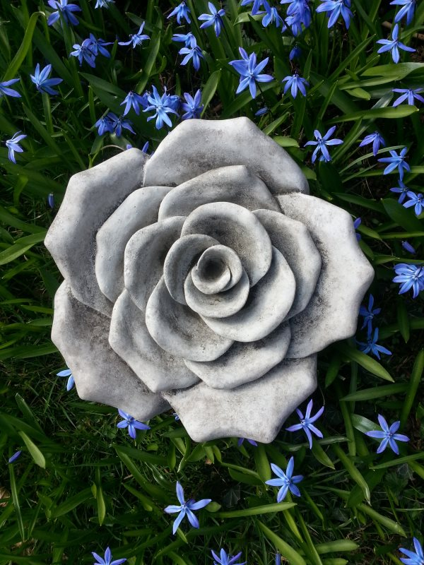 Rose Blüte aus Antiksteinguss frostfest | Steinfiguren I ...