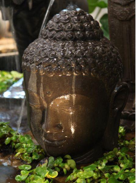 Wasserspiel Buddhakopf