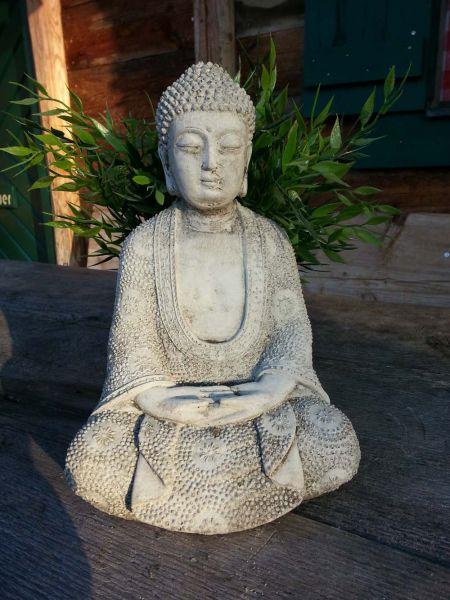 Massive Stein Deko Figur Buddha
