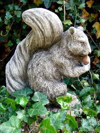 Großes Eichhörnchen Steinguss