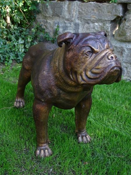 Bulldogge aus Bronze