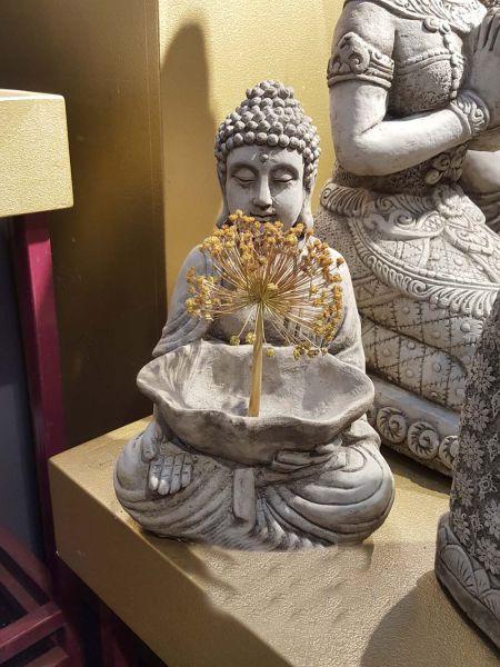 Massive Stein Deko Figur Meditation Buddha