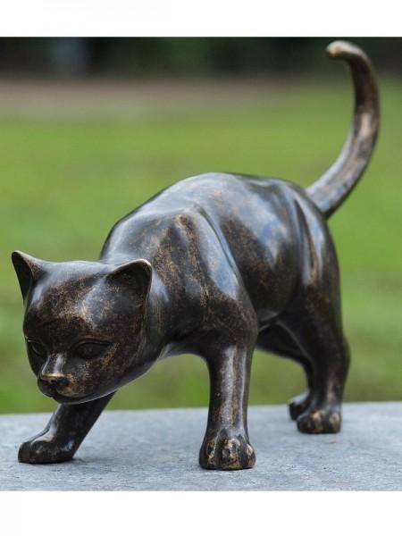 Katze aus Bronze gegossen - Bronze Katze aus Bronzeguss