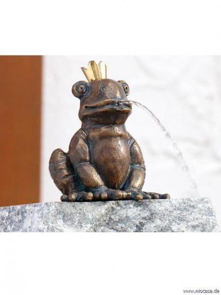 Froschkönig Otto aus Bronze
