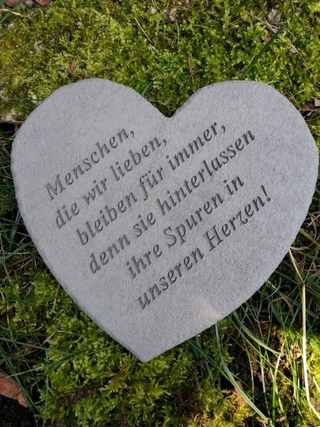 Gedenkherz Menschen, die wir lieben