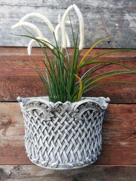 Wall Planter Basket aus Steinguss mit Wandaufhängung