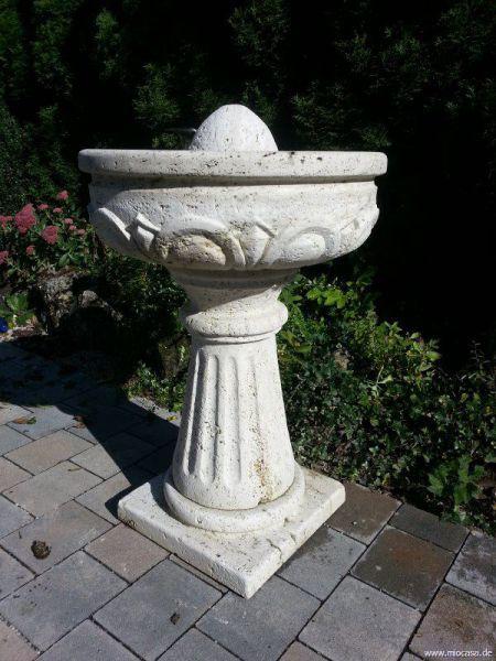 Naturstein Brunnen Travertin