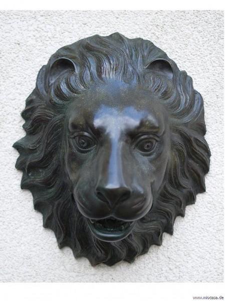 Wasserspeier Brunnenauslauf Löwenkopf Bronze