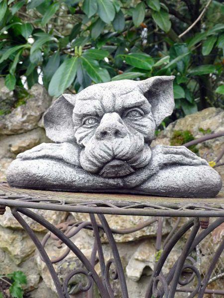 Mauerwächter Gargoyle aus Steinguss frostfest
