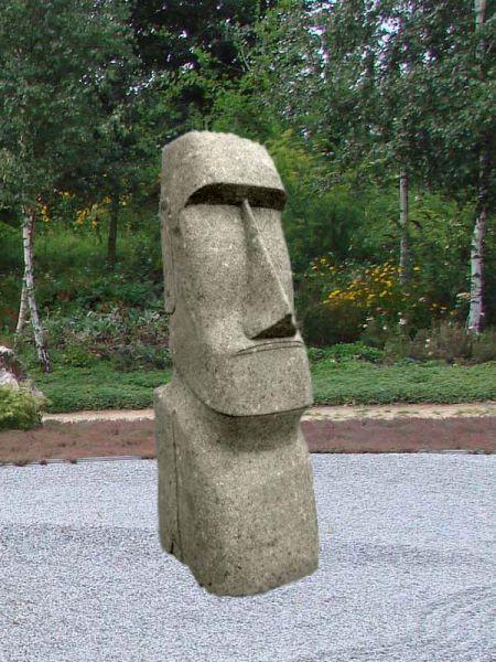 Osterinselkopf Moai aus Naturstein