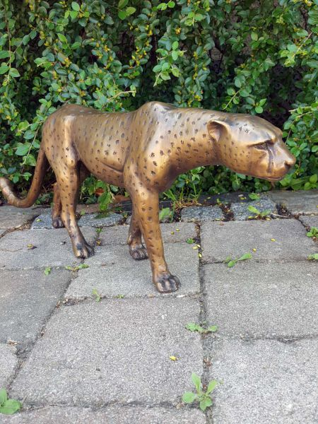 Bronzefigur Gepard - Leopard