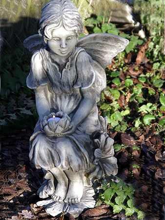 Flower Fairy Malve ais Steinguss