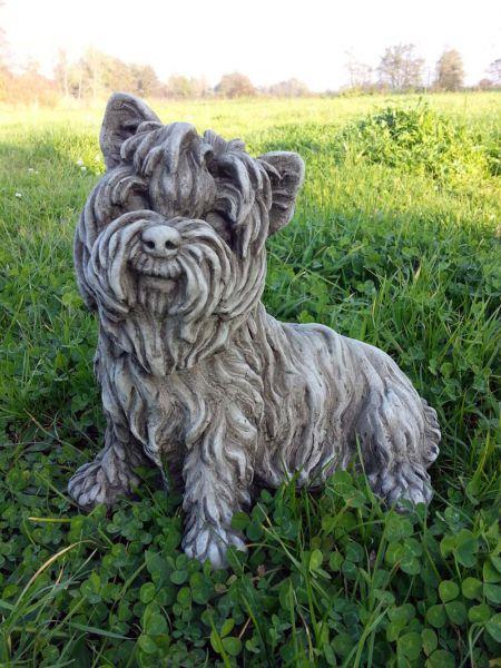 Yorkshire Terrier aus englischem Sandsteinguss