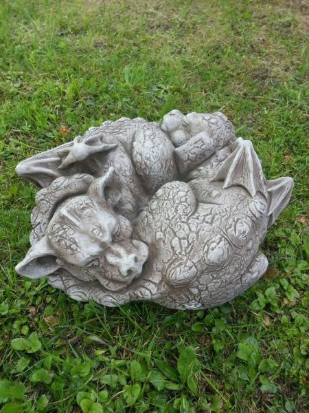 Drachenkinder Yin und Yang Fiona Scott Steinguss Gartenfiguren