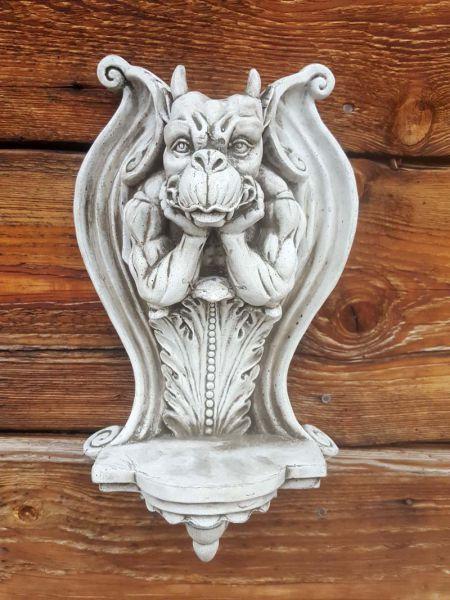 Wandkonsole Gargoyle aus Steinguss
