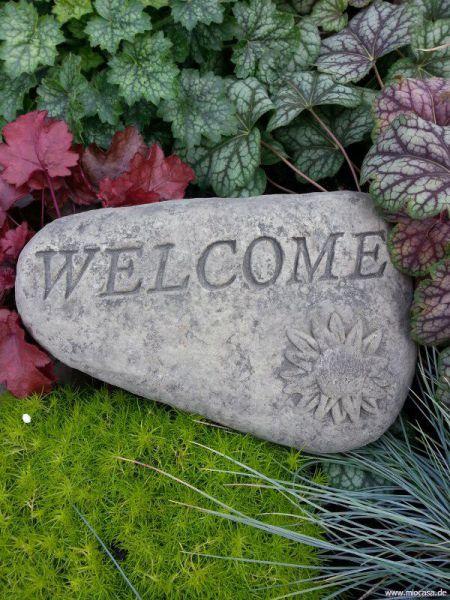 welcome Stein aus Steinguss