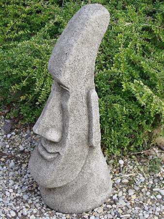 Osterinselkopf groß - Osterinsel Kopf aus Steinguss