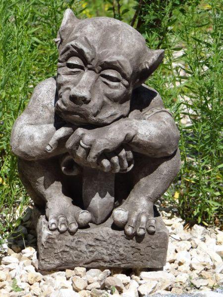 Swor Gargoyle aus Steinguss - Original Devonshire Gartenfigur