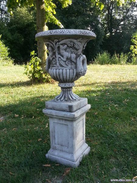 Vase Amphore Mystic aus Steinguss