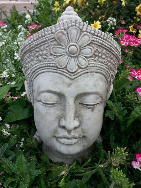 Buddha Kopf Steinguss