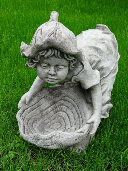 Garten - Wichtel mit Schale