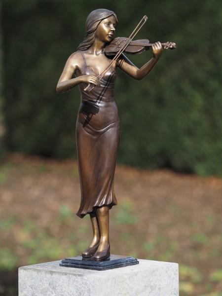 Bronzefigur Geigenspielerin
