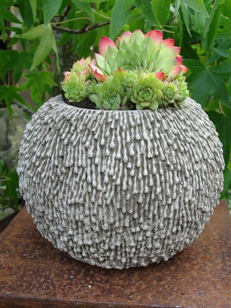 Steinguss vase