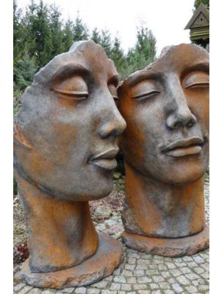 Gesicht Mann und Frau von Vidroflor aus Steinguss