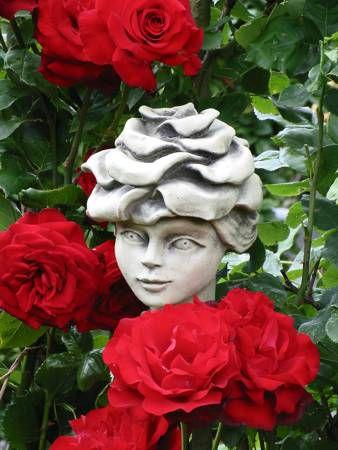 Blumenkind Edelrose aus Steinguss - Original Zauberblume