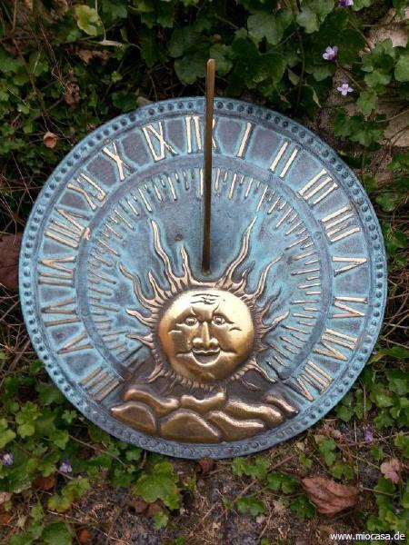 Bronze Sonnenuhr Scheibe