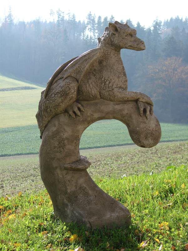 drache yolande - drachenfigur yolande designed by fiona jane scott, Garten ideen