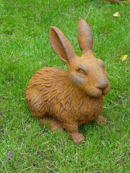 Gusseisenfigur Hase