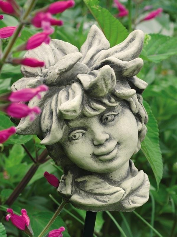 Blumenkind margerithe aus steinguss steinfiguren i for Gartenfiguren aus steinguss