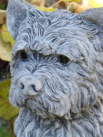 Hund Terrier Steinguss