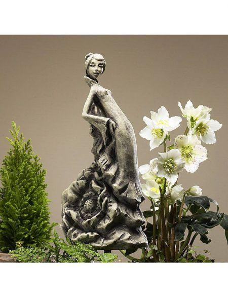 Blütentänzerin Mohn - Gartendeko aus Steinguss
