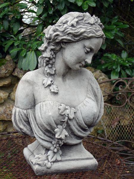 Mädchenbüste IVY aus Steinguss