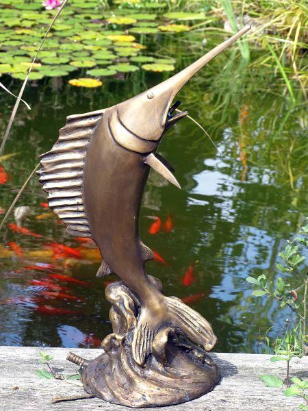 Bronzefigur Schwertfisch