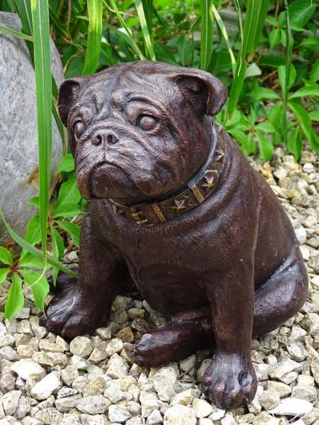 Bronzefigur Mops