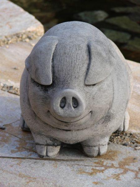 Fettes Schwein Steinguss
