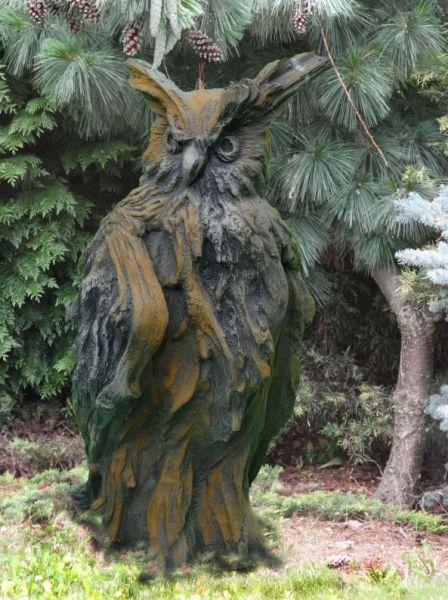 Wesen der Lüfte - Steinfigur EULE Rosteffekt