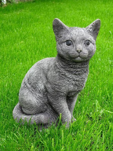 Katze aus Steinguss