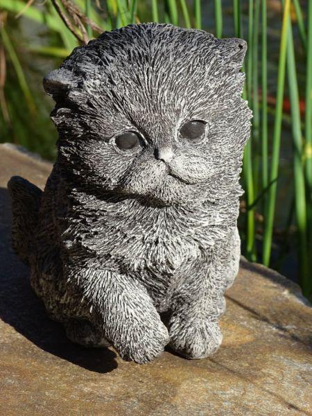 Süßes Kätzchen aus Steinguss