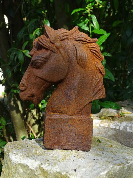 Pferdekopf - Pferdebüste aus Gusseisen
