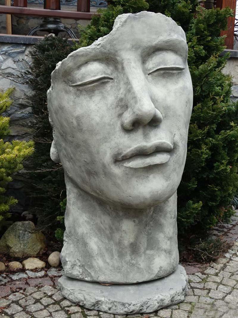 Stein gesichter mann und frau aus frostfestem steinguss for Gartenfiguren aus steinguss
